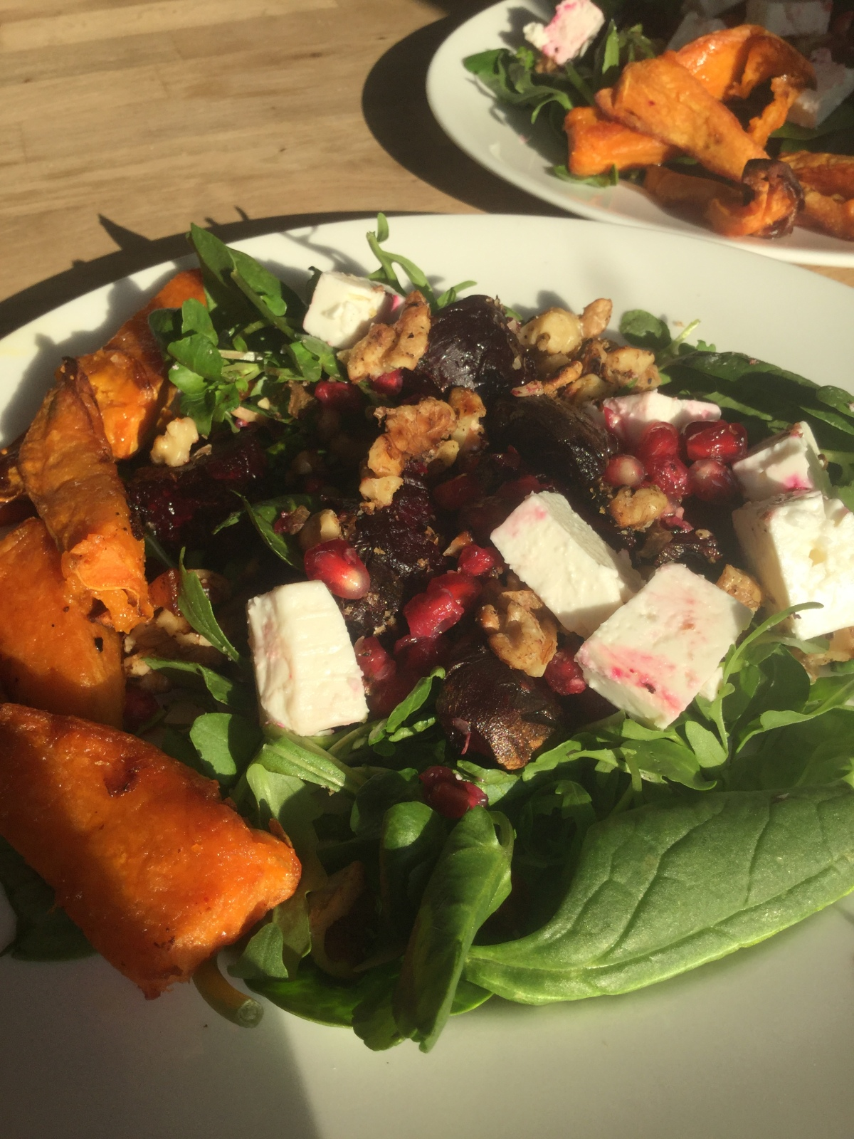 Antioxidant-Rich, Roasted Beetroot, Pomegranate & Walnut Salad