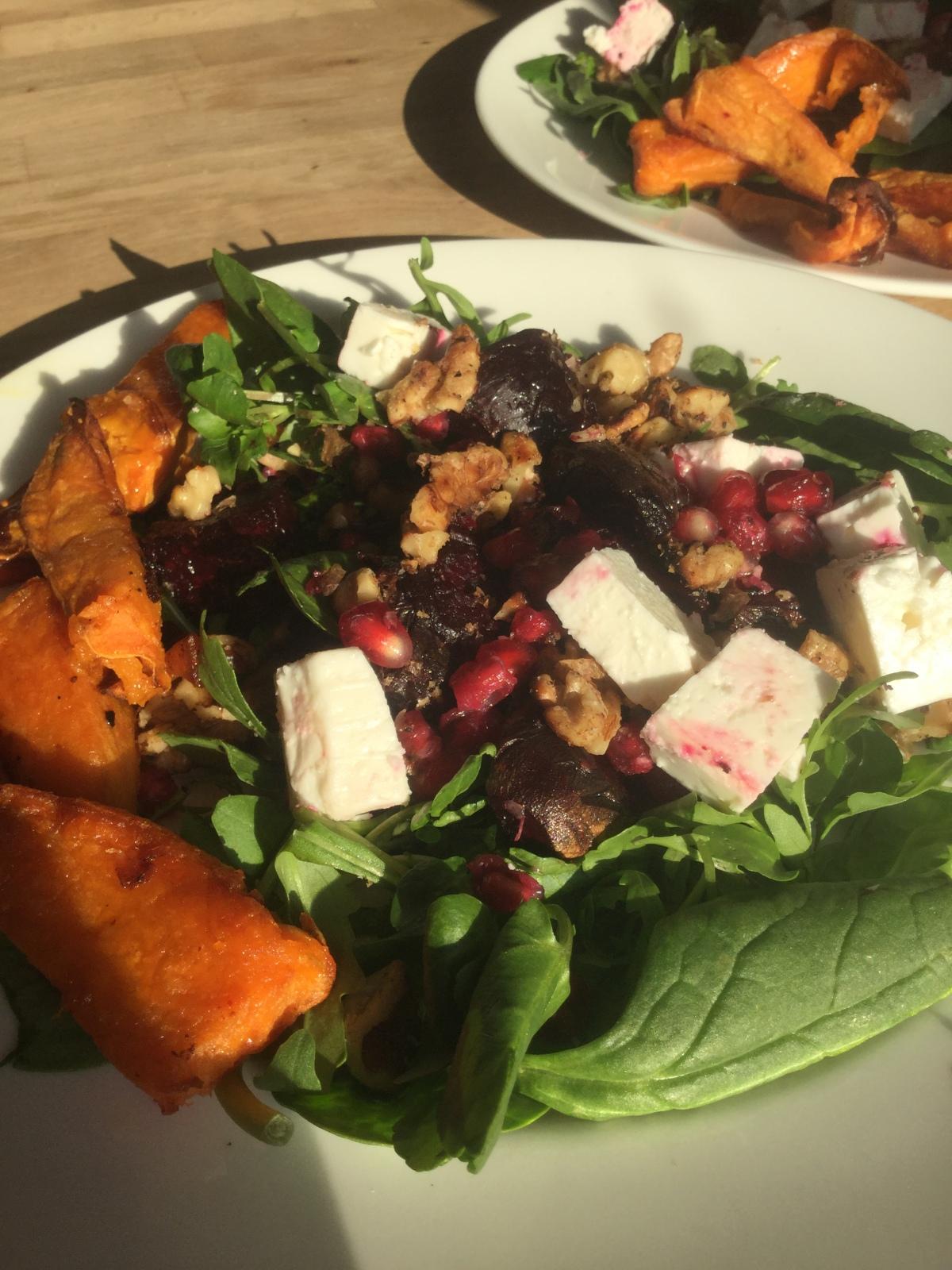Antioxidant-Rich, Roasted Beetroot, Pomegranate & WalnutSalad