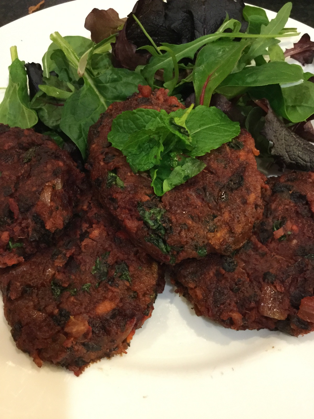 Vegan, Spicy Sweet Potato, Beetroot and Black Bean Patties